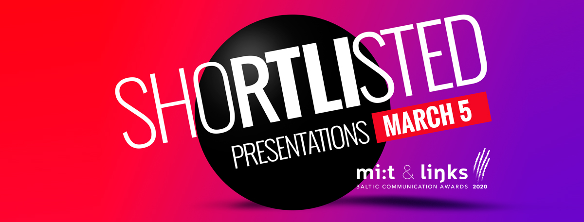 Shortlisted presentations 2020 schedule